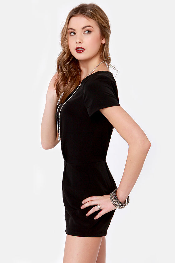 Chic for Yourself Black Romper at Lulus.com!
