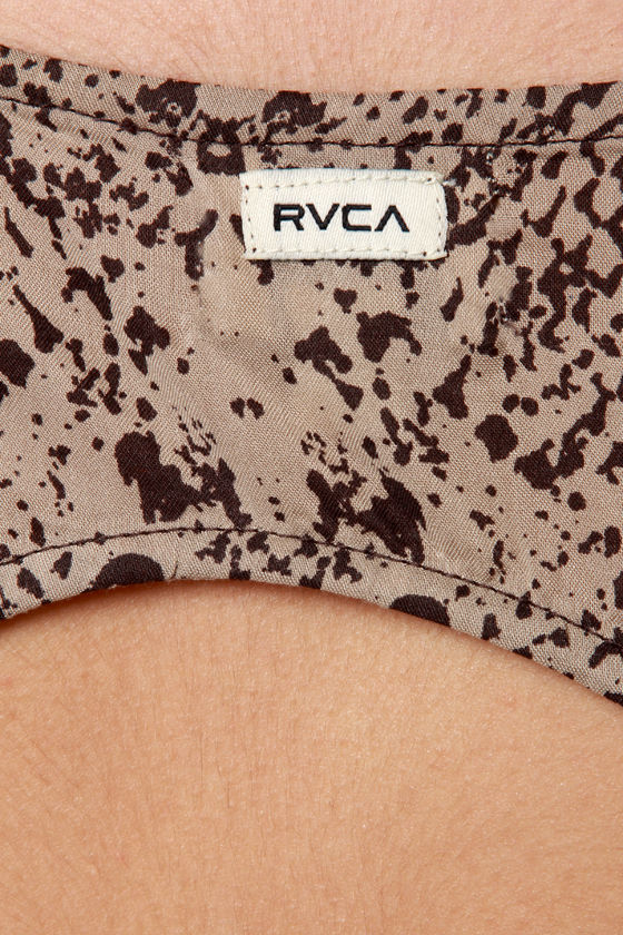 RVCA Drench Brown Snake Print Dress at Lulus.com!