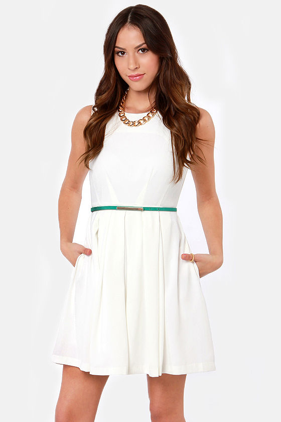 Born Ready Ivory Dress at Lulus.com!