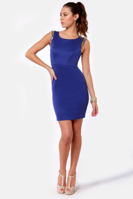 LULUS Exclusive Contessa Beaded Blue Dress at Lulus.com!