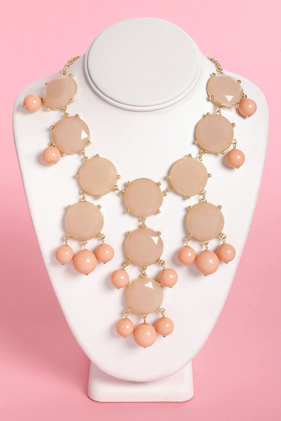 Georgia Peach Statement Necklace at Lulus.com!