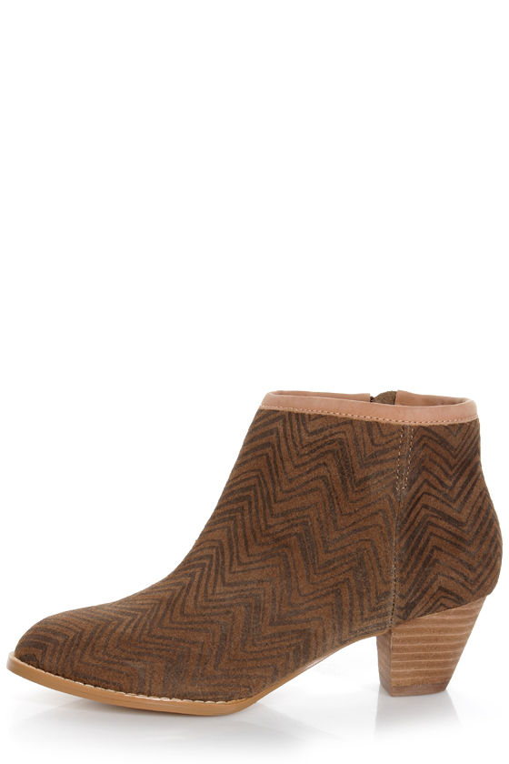 Envy Babs Beige Striped Leather Ankle Booties at Lulus.com!