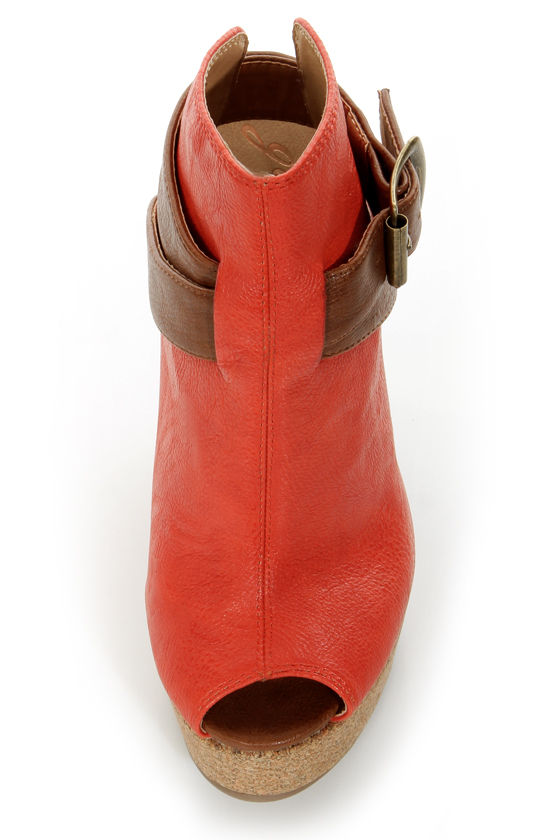 GoMax Limited Edition 02 Fiesta Orange Platform Booties at Lulus.com!