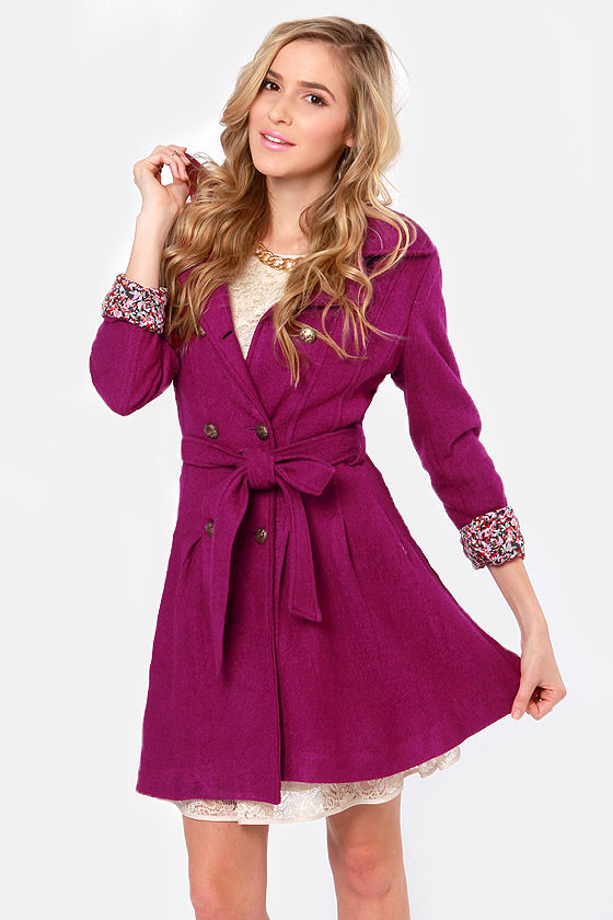 Day By Dainty Fuchsia Coat at Lulus.com!