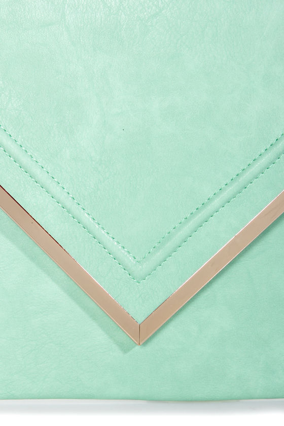 Super Size Mint Oversized Clutch at Lulus.com!