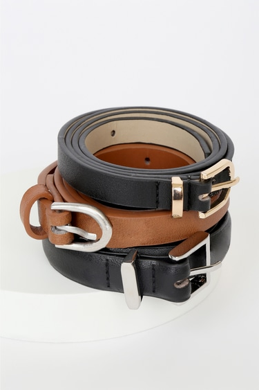 Styling Possibilities Black and Brown Belt Set