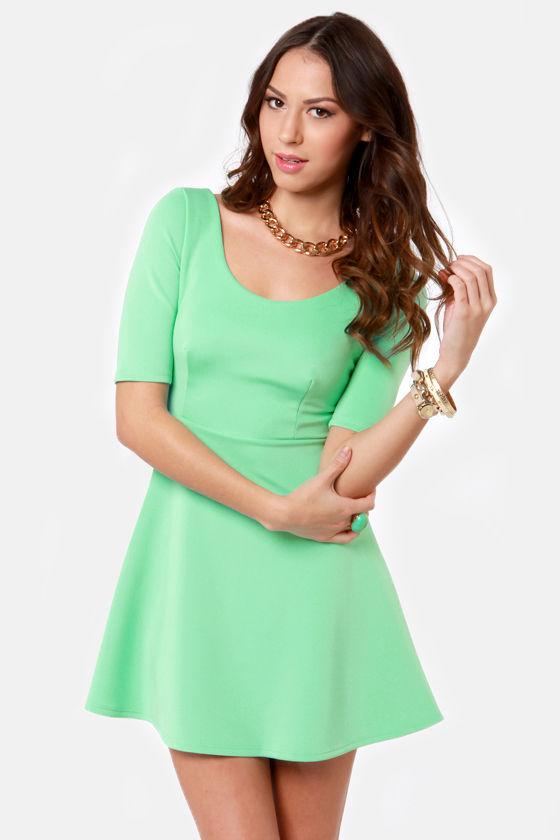 Cute Mint Green Dress Skater Dress 37 50