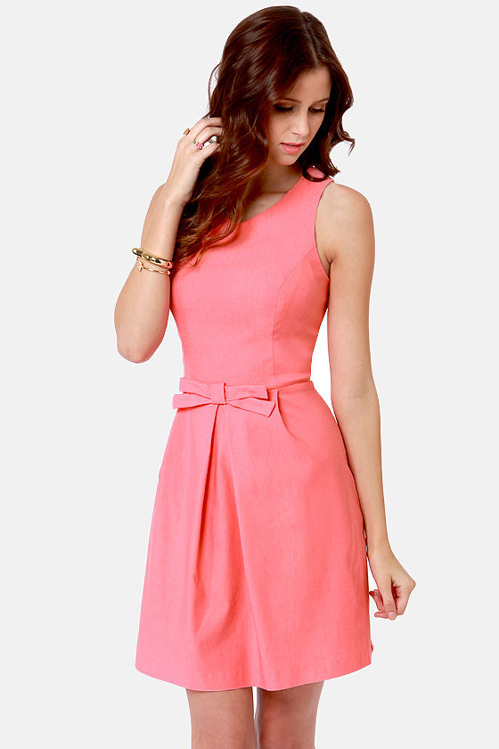 Pretty Pink Dress - Fit and Flare Dress - $44.00