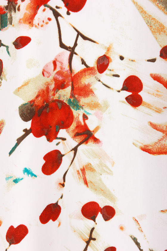 BB Dakota Morgan White Floral Print Dress at Lulus.com!
