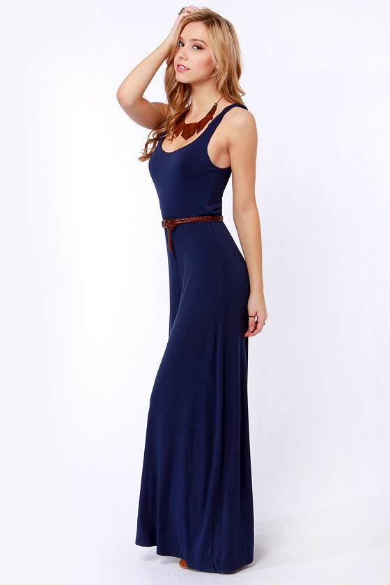 BB Dakota Lyric Navy Blue Jumpsuit at Lulus.com!