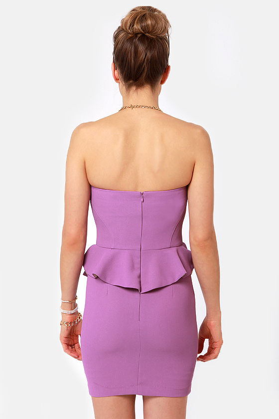 Wild Orchid Strapless Purple Dress at Lulus.com!