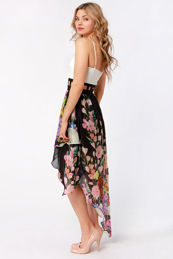Ro Sham Botanical Black and White Floral Print Dress at Lulus.com!