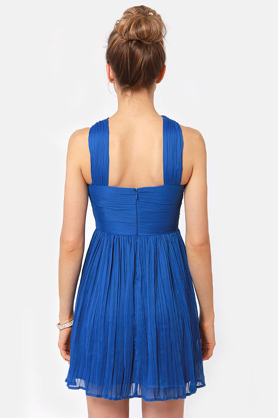 BB Dakota Kiefer Cobalt Blue Dress at Lulus.com!