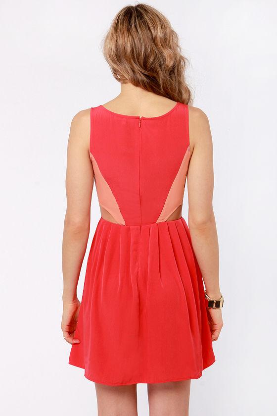 BB Dakota Ripley Cutout Red Dress at Lulus.com!