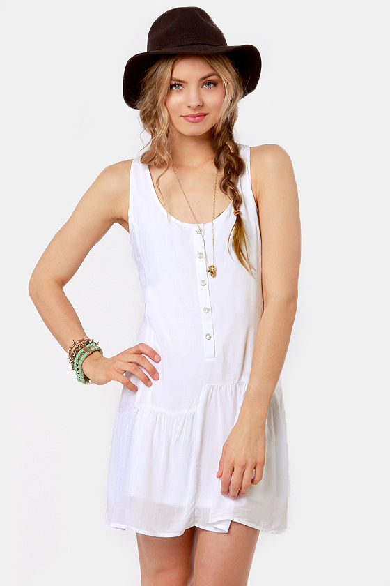 Volcom Young Folk White Dress at Lulus.com!