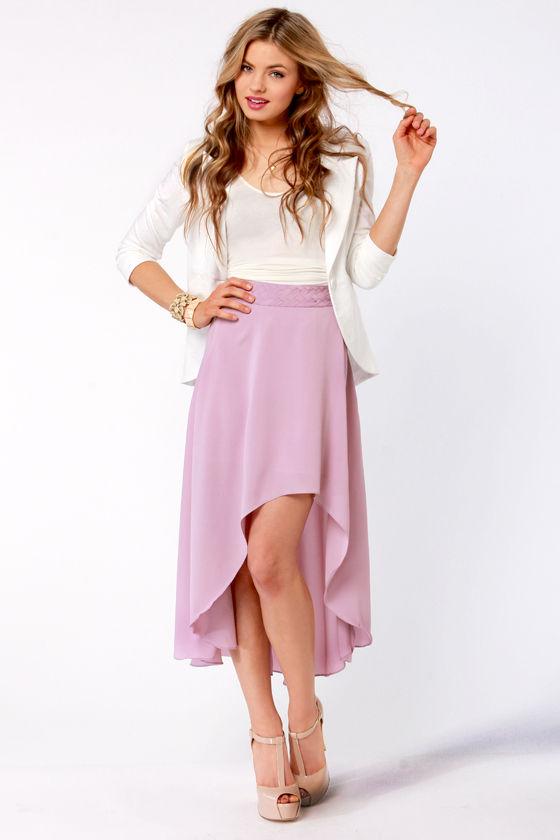 Raid the Braid Lavender Skirt at Lulus.com!