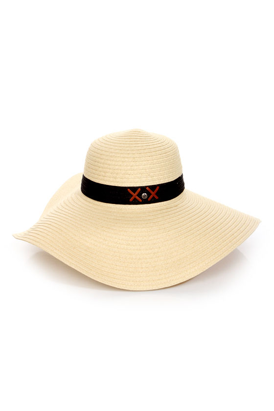 Volcom Rising Stone Beige Straw Hat at Lulus.com!