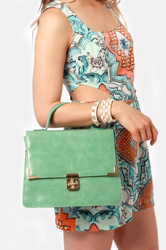 Structured a Chord Mint Green Purse at Lulus.com!