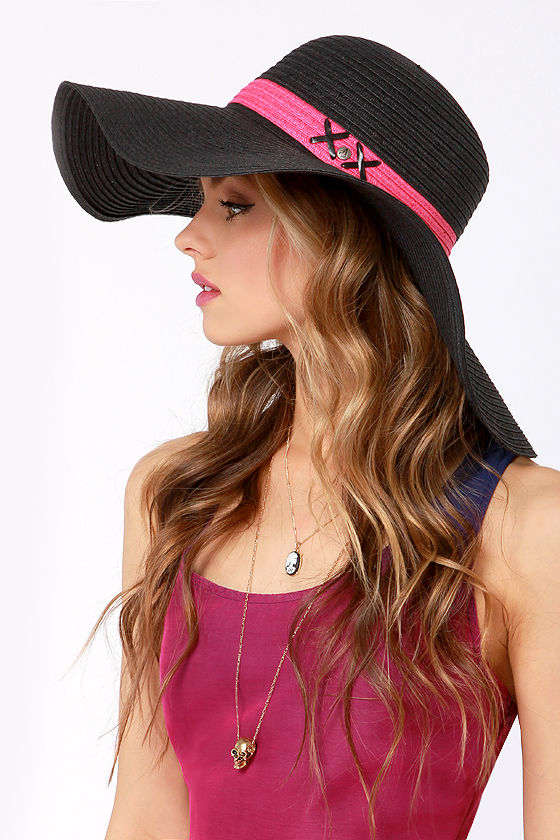 Volcom Rising Stone Black Straw Hat at Lulus.com!