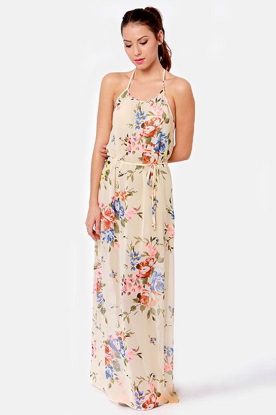 Floral print dresses maxi