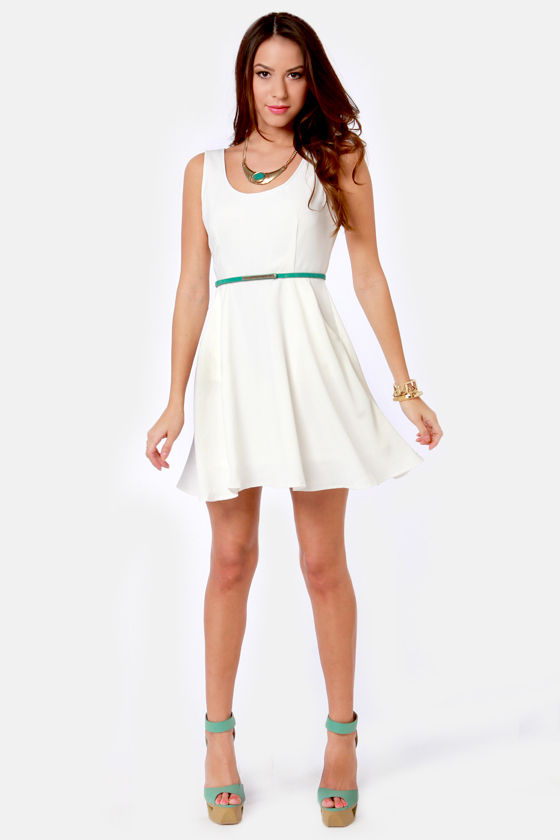 Part of Your Twirl Ivory Dress at Lulus.com!