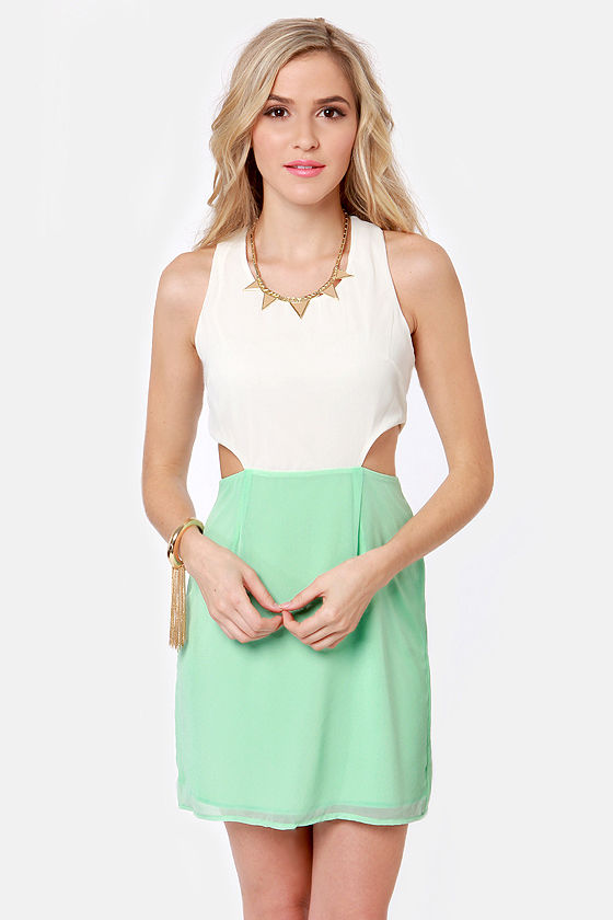 Syrup-dipity Mint Green and Ivory Dress at Lulus.com!