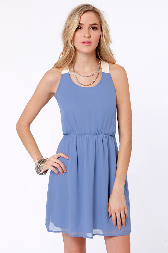 Honey Dipper Periwinkle Blue Dress at Lulus.com!