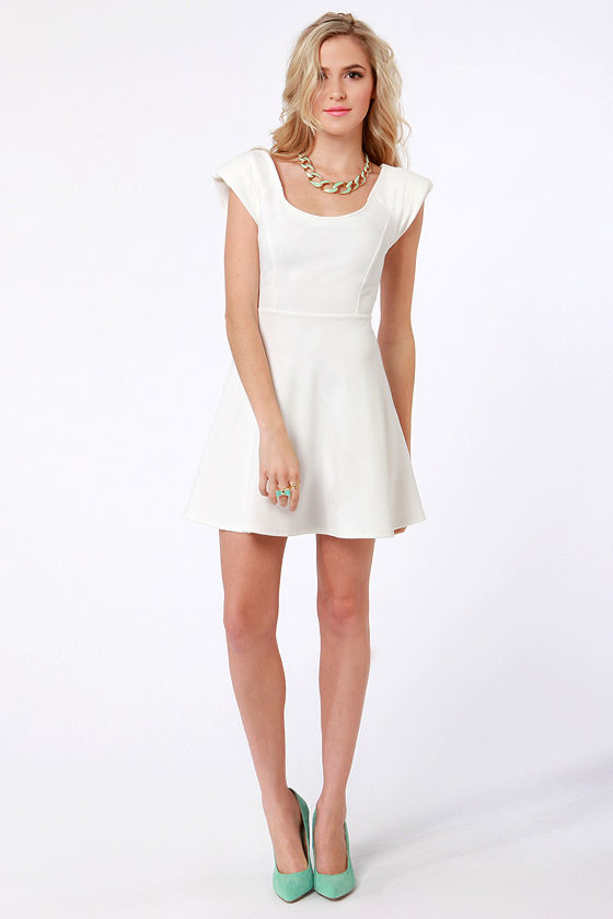 Sweep-Skates Winner Ivory Dress at Lulus.com!