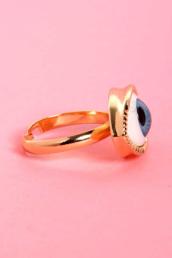 Eyes on You Gold Eye Ring at Lulus.com!