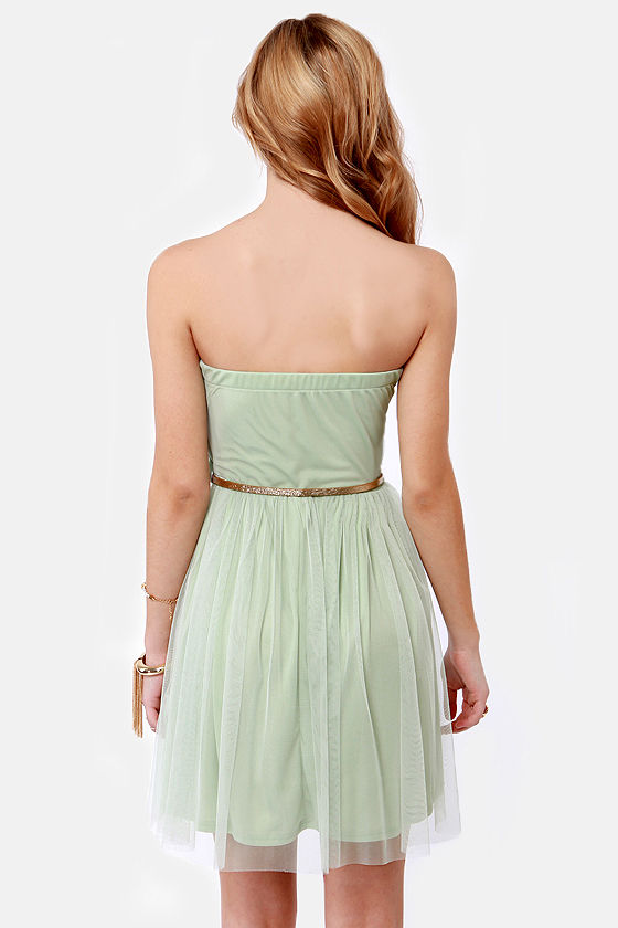 May I Have This Dance? Sage Green Lace Dress at Lulus.com!