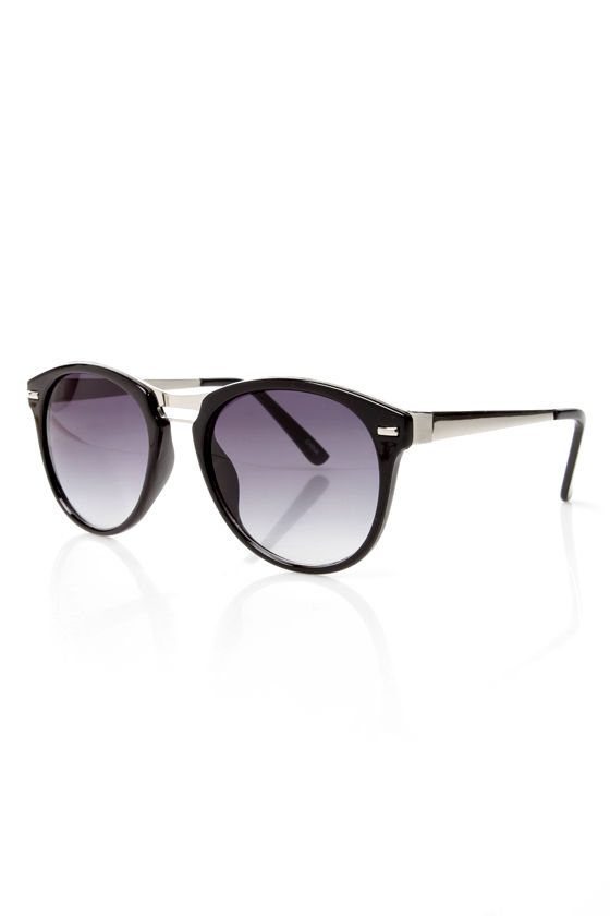 Hall of Frames Silver and Black Sunglasses at Lulus.com!