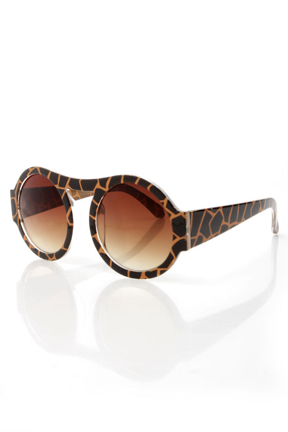 Trend Spotter Black and Tan Print Sunglasses at Lulus.com!