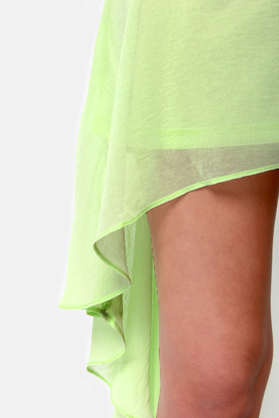 Cascade-ered Affair Green High-Low Skirt at Lulus.com!