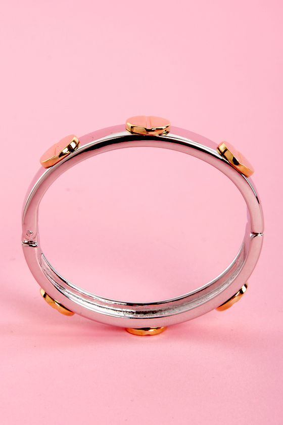 Taming of the Screw Gold and Silver Bangle at Lulus.com!