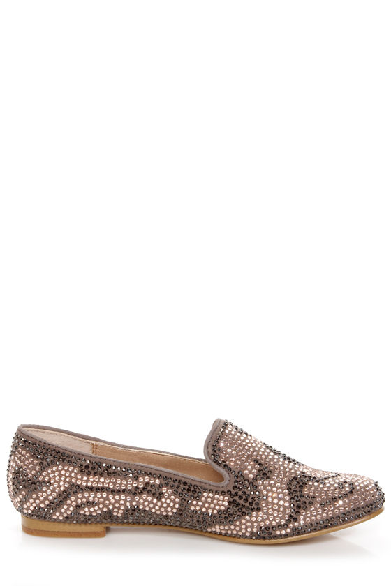 Steve Madden Conncord Blush Multi Studded Smoking Slipper Flats at Lulus.com!