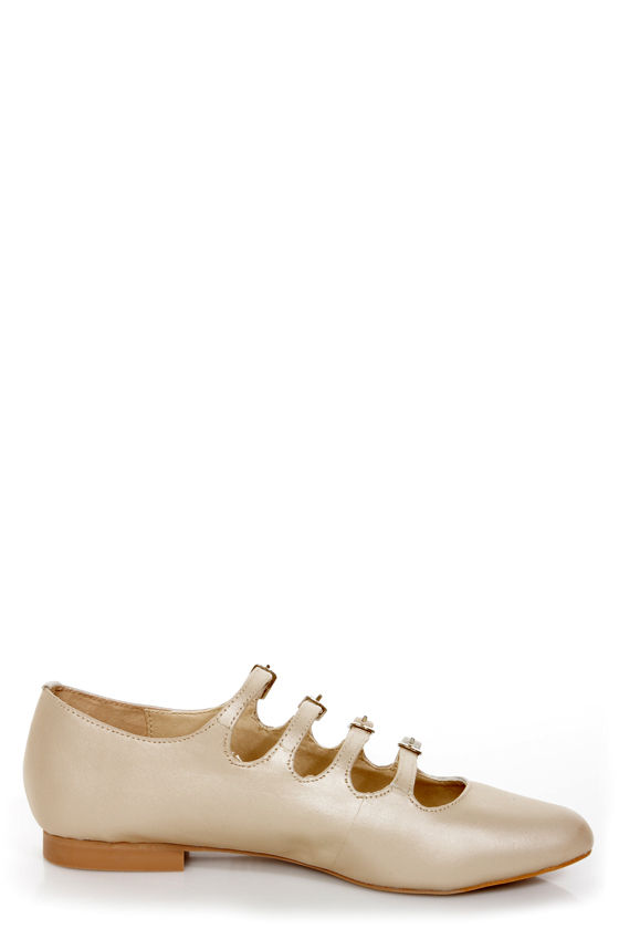 Mojo Moxy Mayfair Cream Strappy Pointed Flats at Lulus.com!