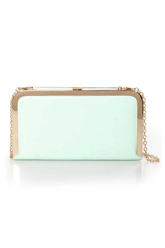 Blast from the Pastel Mint Green Clutch at Lulus.com!