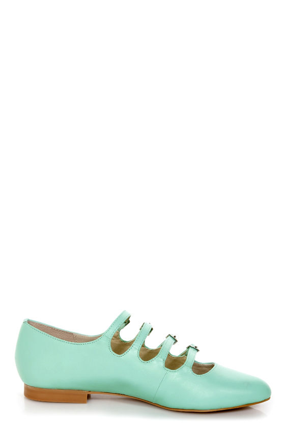 Mojo Moxy Mayfair Mint Strappy Pointed Flats at Lulus.com!