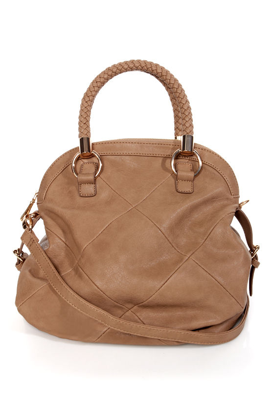 Braid and Butter Brown Bowling Bag by Urban Expressions at Lulus.com!