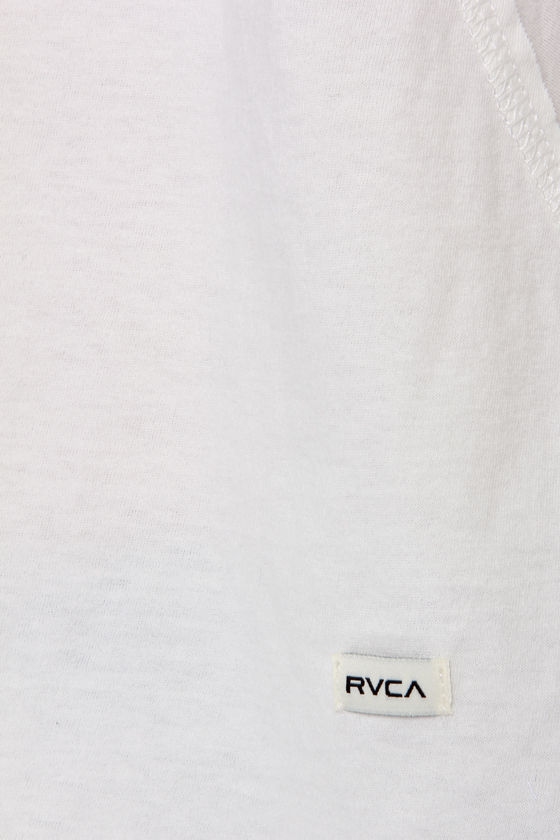 RVCA Label Tucker Ivory Top at Lulus.com!