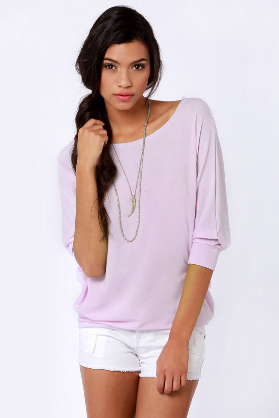 Novel-Tee Shop Lavender Top at Lulus.com!
