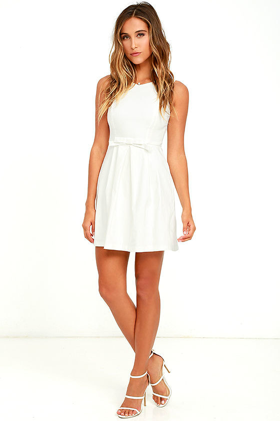 8ee442127 Cute Ivory Dress - White Dress - Skater Dress - $44.00