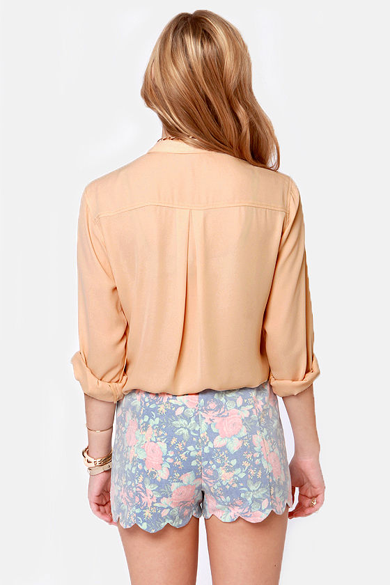 Skinny Zipping Beige Top at Lulus.com!