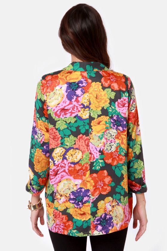 Mink Pink Chelsea Floral Print Blazer at Lulus.com!