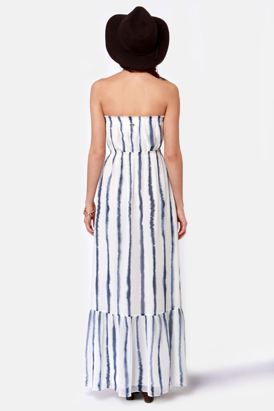Quiksilver Indigo Splash Striped Maxi Dress at Lulus.com!