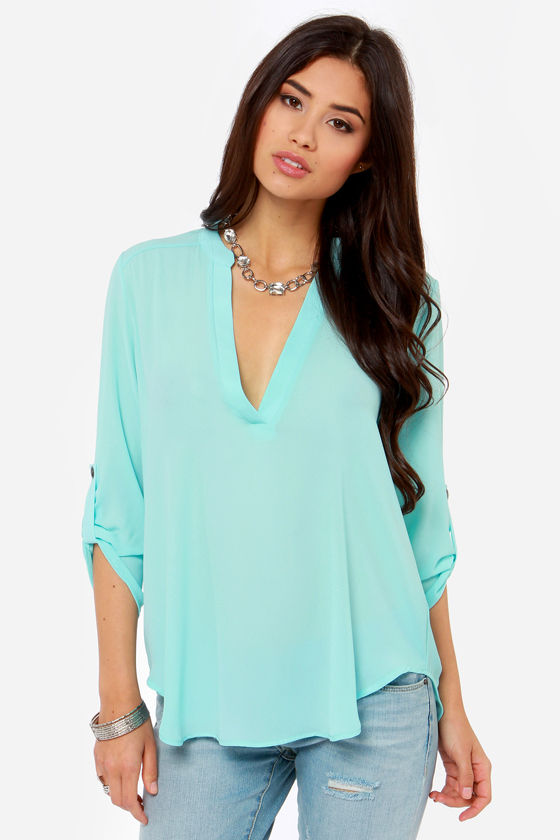 V-sionary Sky Blue Top at Lulus.com!
