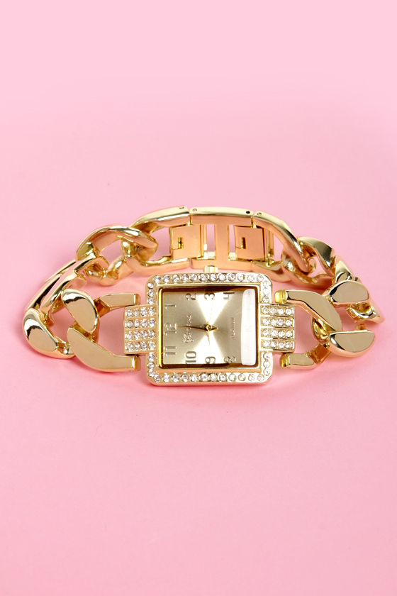 Link Outside the Box Gold Watch at Lulus.com!