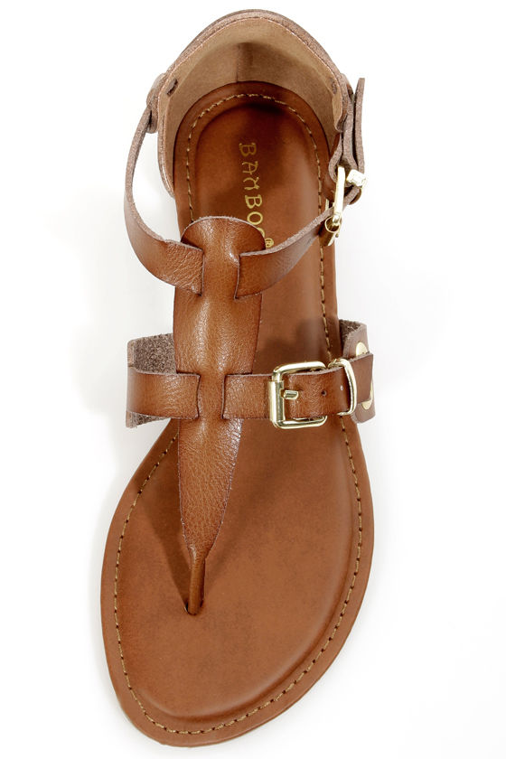 Bamboo Jazibel 05 Tan Double T-Strap Thong Sandals at Lulus.com!