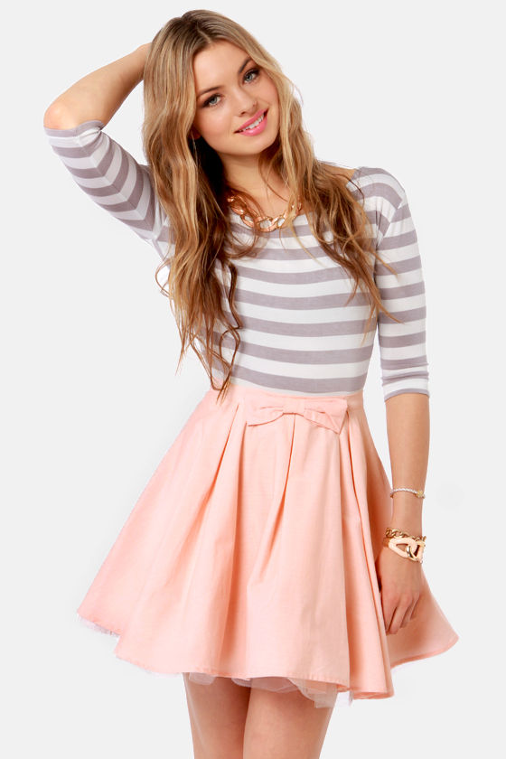 Cute Peach Skirt - Mini Skirt - Tulle Skirt - $47.00