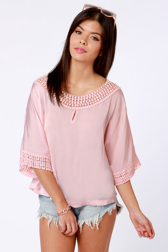 Sakura Season Satin Pink Top at Lulus.com!